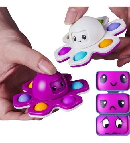 Spinner Pop-it Fidget Toy Polvo Humor Autismo Anti-stress
