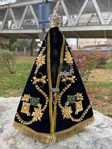 Imagem De Nossa Senhora Aparecida Manto Luxo - 40cm