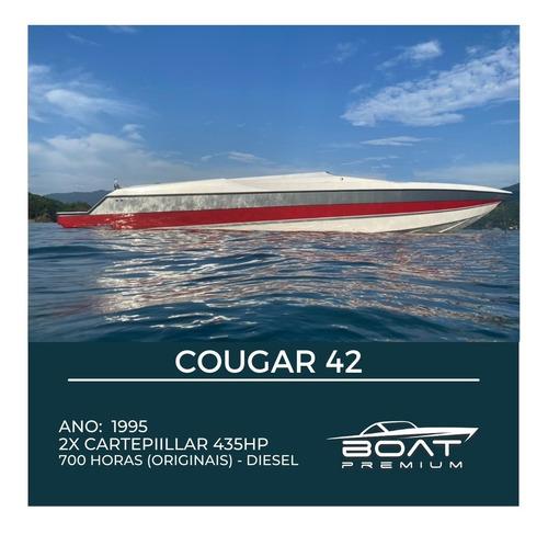 Couga 42, 1995, 2x Cartepillar 435hp- Focker -triton- Magnum