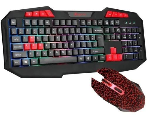 Combo Kit Teclado Y Mouse Xtrike Me Mk503 Gamer Rgb