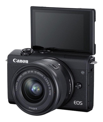 Câmera Digital Canon Eos M200 Com Lente 15-45mm (preto)