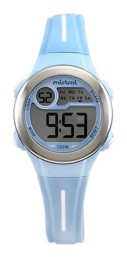 Reloj Mistral Digital Celeste