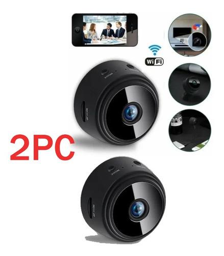 2pc Mini Câmera Wifi Hd 1080p Babá Escondida Espião Câmera