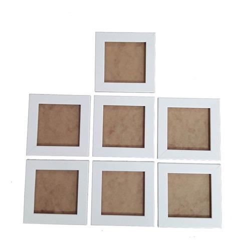 Kit 7 Porta Retrato 10x10 Com Vidro