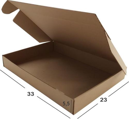 20 Cajas Cartón Microcorrugado Troquelada. 33 X 23 X 5.5 Cm