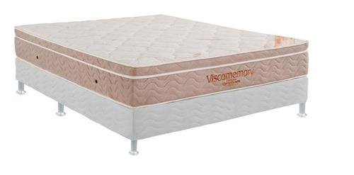 Conjunto Box Completo Casal Ortobom De Espuma Viscomemory 13