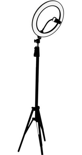 Ring Light Completo Iluminador Portátil 26cm Tripé 2m Top