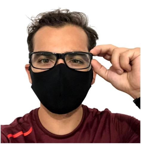 Kit 6 Mascara Não Embaça Óculos Anatômica Regulável Lavável