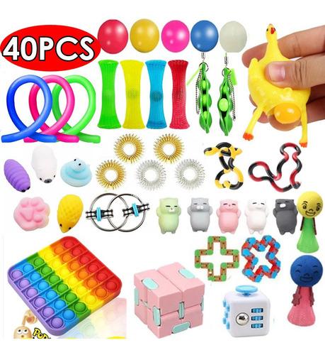 Brinquedos Finger Figet Anti Stress 40pcs