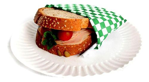 Papel Acoplado Com Barreira Pra Lanche Burguer Burger 500 Fl