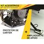 Kit Protetor De Carter Base Pé De Apoio V strom 1000 Aço