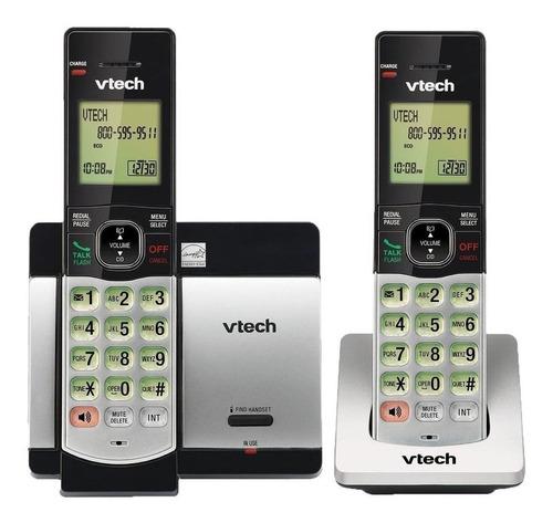 Teléfono Inalámbrico Vtech Cs5119-2 Gris Y Negro
