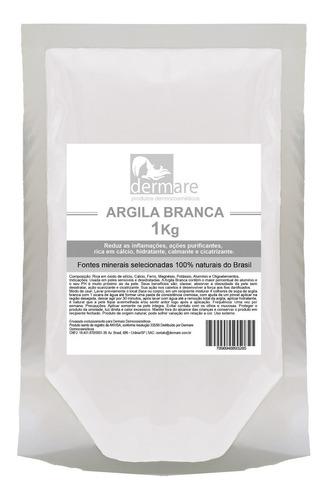 Argila Branca 1kg - Dermare (clareadora)