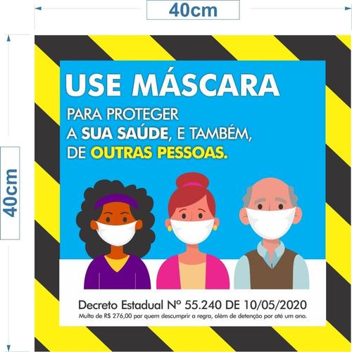 Placa Atenção Use Máscara Utilize 40x25cm Pronta Entrega Ok
