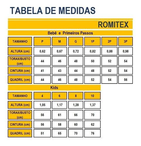 Conjunto Menino 1° Passos Estampa Tigre Wrk Romitex 51274