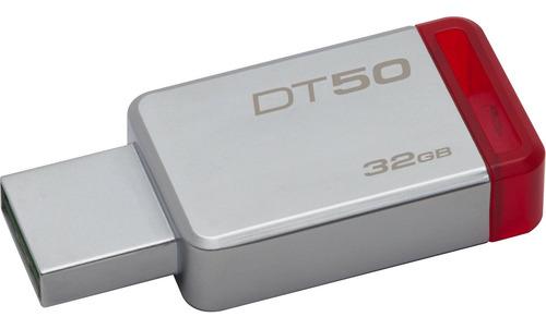 Pendrive Kingston Datatraveler 50 32gb Plateado/rojo
