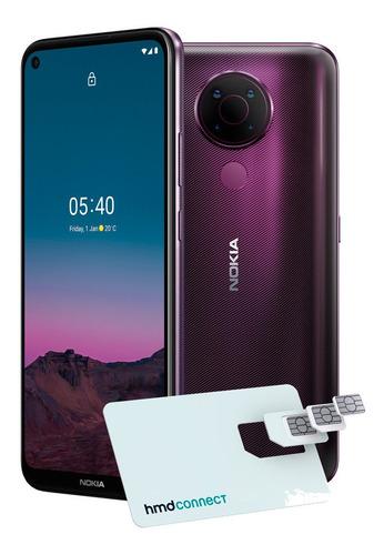 Smartphone Nokia 5.4 Roxo 128gb 4gb Ram 6,39pol 48.0mp (uw)