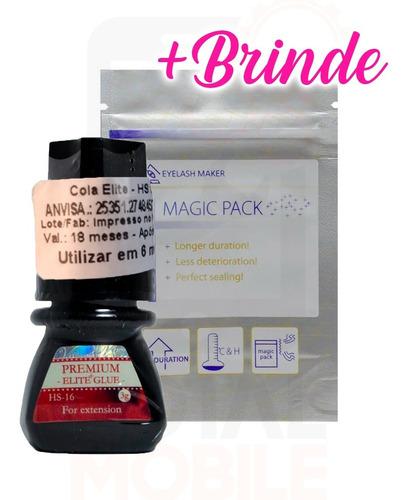 Cola Elite Hs16 3ml Extensão Cílios Fio Premium Black Glue