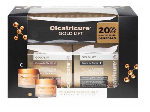 Pack Crema Cicatricure Gold Día Y Noche Con Necessaire