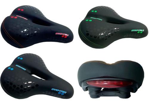 Selim Mtb Vazado Gel Com Sinalizador Super Confortável Bike