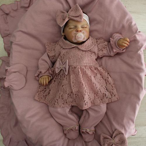 Saída De Maternidade Menina Glamour Princesinha Renda
