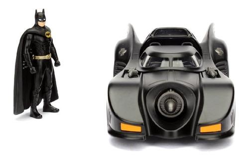 1989 Batmobile Com Figura Do Batman Dc 1/24 Jada 98260