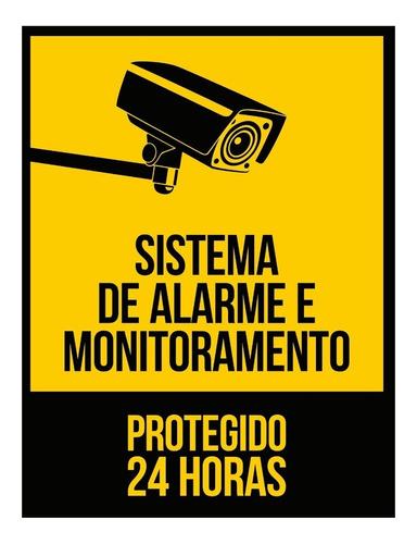 Placa De Segurança Proteja Sua Casa 24 Horas Sistema De Alarme E Monitoramento Protegido 24 Horas