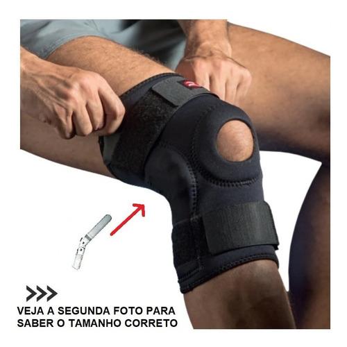 Joelheira Ortopedica Com Tala Articulada Neoprene Realtex.