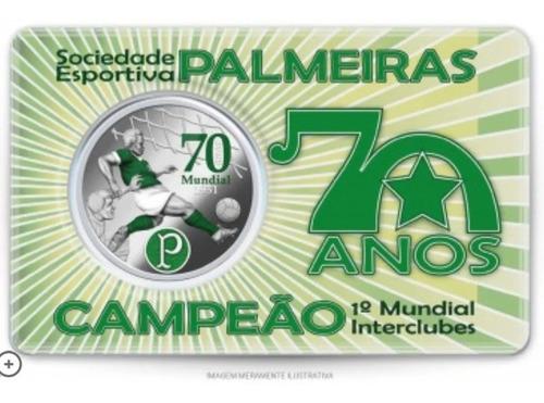 Medalha 70 Anos Mundial Palmeiras 1951 Casa Da Moeda !!!
