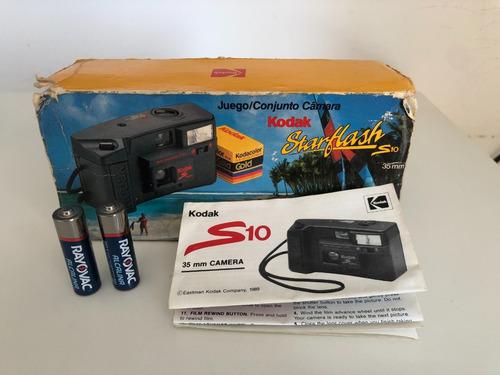 Relíquia Câmera Analógica Kodak Star Flash S10 Caixa Brind
