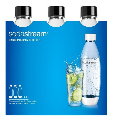 Tripack Botellas X 3 Sodastream  1 Ltr