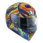 Capacete Para Moto Integral Agv K 3 Sv Five Continents Multicolor Tamanho S