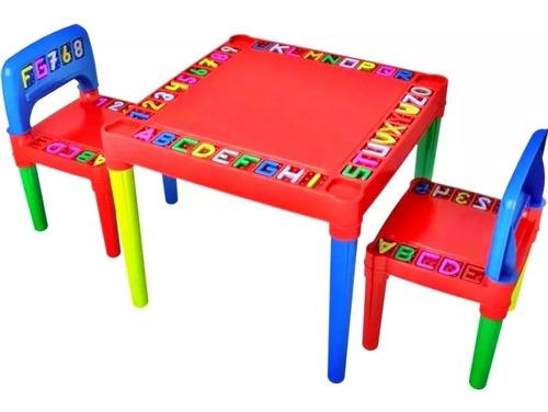 Mesa Mesinha Didatica Infantil Com 2 Cadeiras