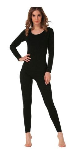 Roupa De Frio Feminino Conjunto Calça + Blusa Térmica Segunda Pele Flanelada Tamanho Unico Veste Do 36 Ate 46 - Promoção