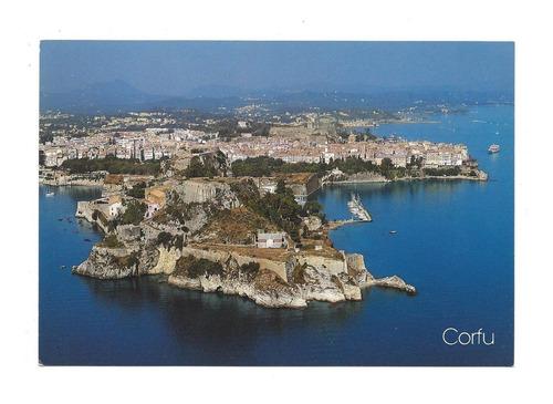 Postal De La Isla De Corfu Grecia Para Coleccionistas
