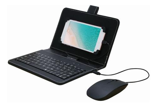 Portátil Tipo-c Com Fio Teclado Mouse Conjunto Com Couro Ens