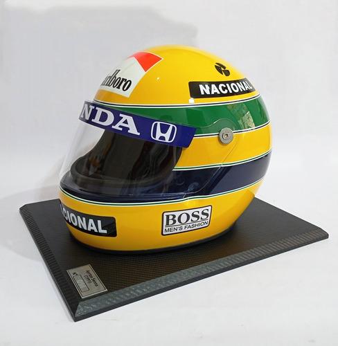 Capacete Ayrton Senna 1991 Réplica Bell Xfm1