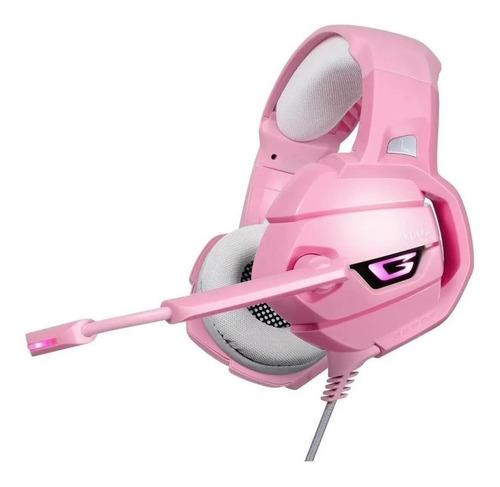 Onikuma K5 Pink Gamer Headphones With Xbox Lap Microphone