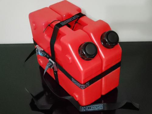 Combo Bidón Combustible Chato 5l  X 2 + Par De Zunchos