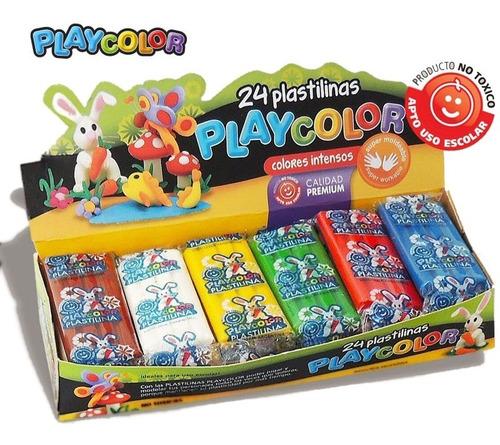 Plastilinas Playcolor Caja Surtido X 24 Unidades