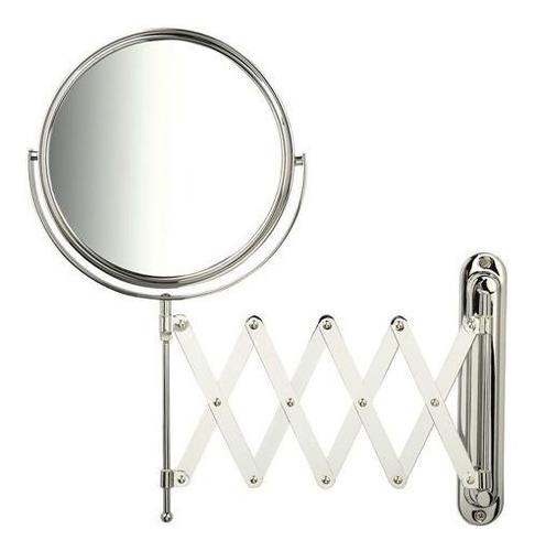 Espelho Duplo Aumento Lado C/ Grau Articulado Barbear Parede