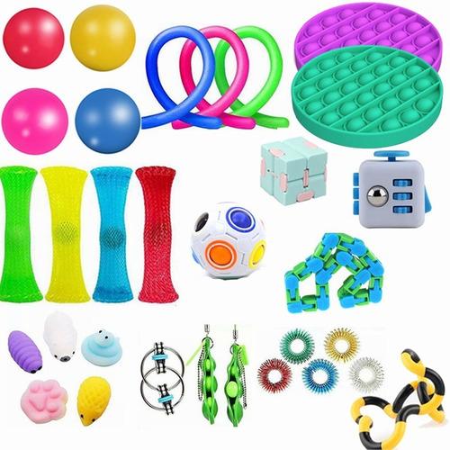 Kit Brinquedos Fidget Sensorial Alivio De Stress 31 Pçs