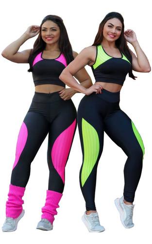 Kit Com 2 Legging Feminina Moda Fitness Academia Promoção