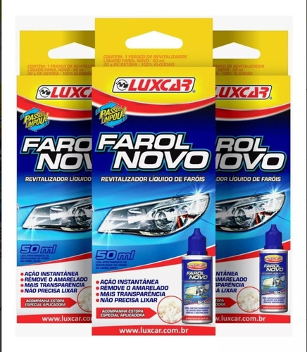Kit Com 3 Revitalizador Líquido De Farol - Produto Original