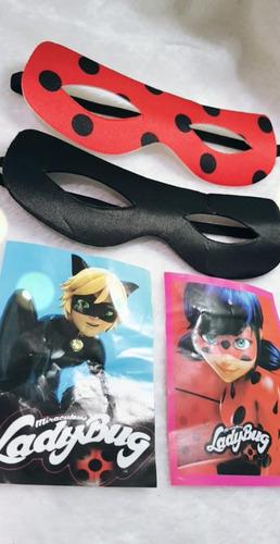 10 Máscara Miraculous Ladybug Ou Cat Noir Festa Atacado