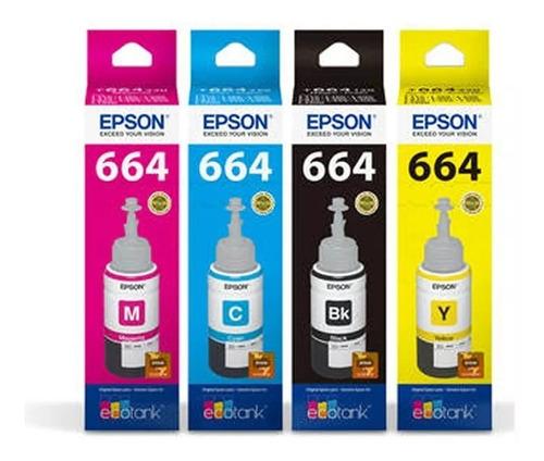 Juego Tintas Original Epson T664 664 Sist Continuo 380 495