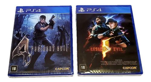 Resident Evil 4 + Resident Evil 5 (ps4 Mídia Física Original