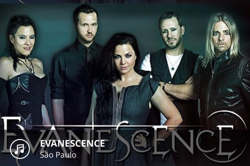 Ingresso Para O Show Do Evanescense Pista Inteira Dia 23/04