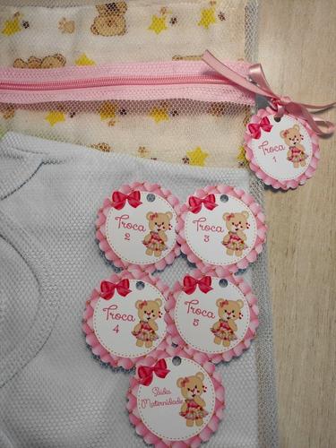 Saquinho Maternidade C/ 6 Unidades + Tag Ursa Mod. 30