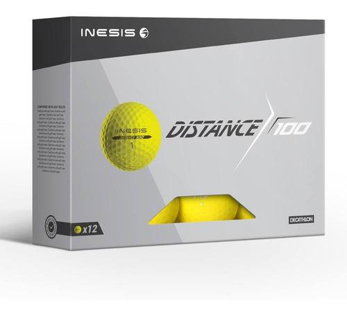Bolas De Golf Distance 100 Inesis (caixa 12 Bolas)